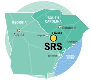 SRNS Our Location - Georgia map savannah river